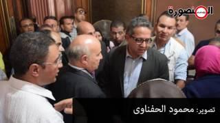 فيديو  نائبة المنصورة لموظف قصر الشناوي: أقولك بيحصل أيه هنا بالليل