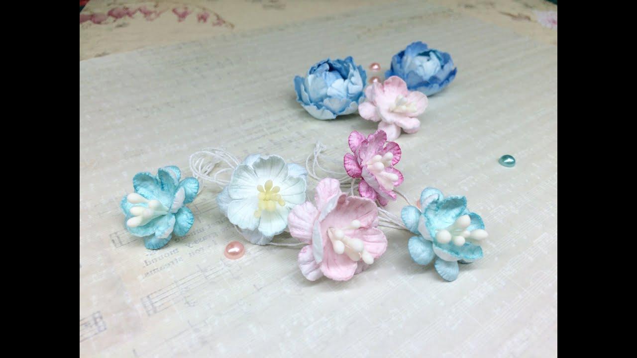 Цветы ВИШНИ из бумаги своими руками !!!