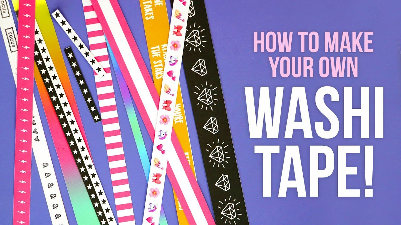 picture relating to Printable Washi Tape called HOW Towards Create YOUR Personalized WASHI TAPE Uncomplicated Summertime Do-it-yourself Challenge @karenkavett