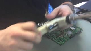 Remplacement connecteur D'alimentation sur Portable