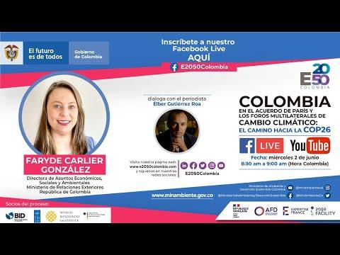 Colombia en el acuerdo de París y los foros multilaterales de cambio climático