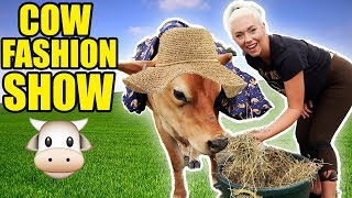 We Dressed Up Our New Pets! Cow Fashion Show!