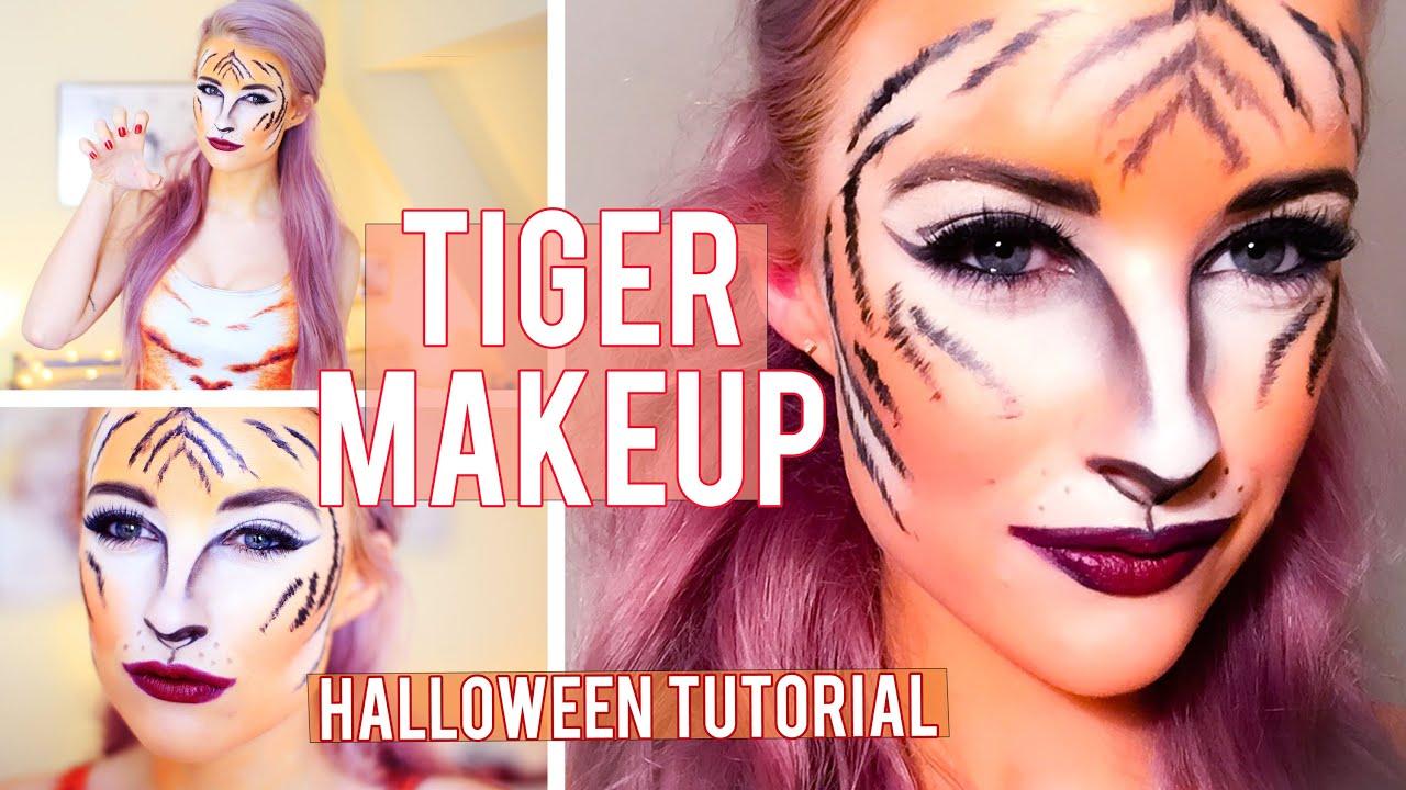 Tiger Halloween Makeup Tutorial | Inthefrow - YouTube