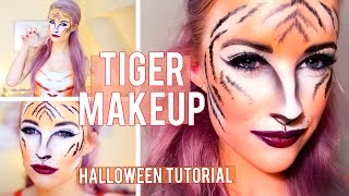 Tiger Halloween Makeup Tutorial | Inthefrow