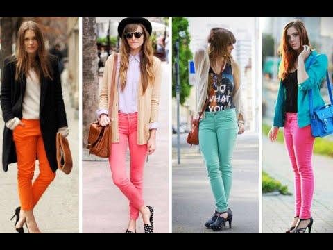 Moda c mo combinar pantalones de colores youtube - Colores para combinar ...