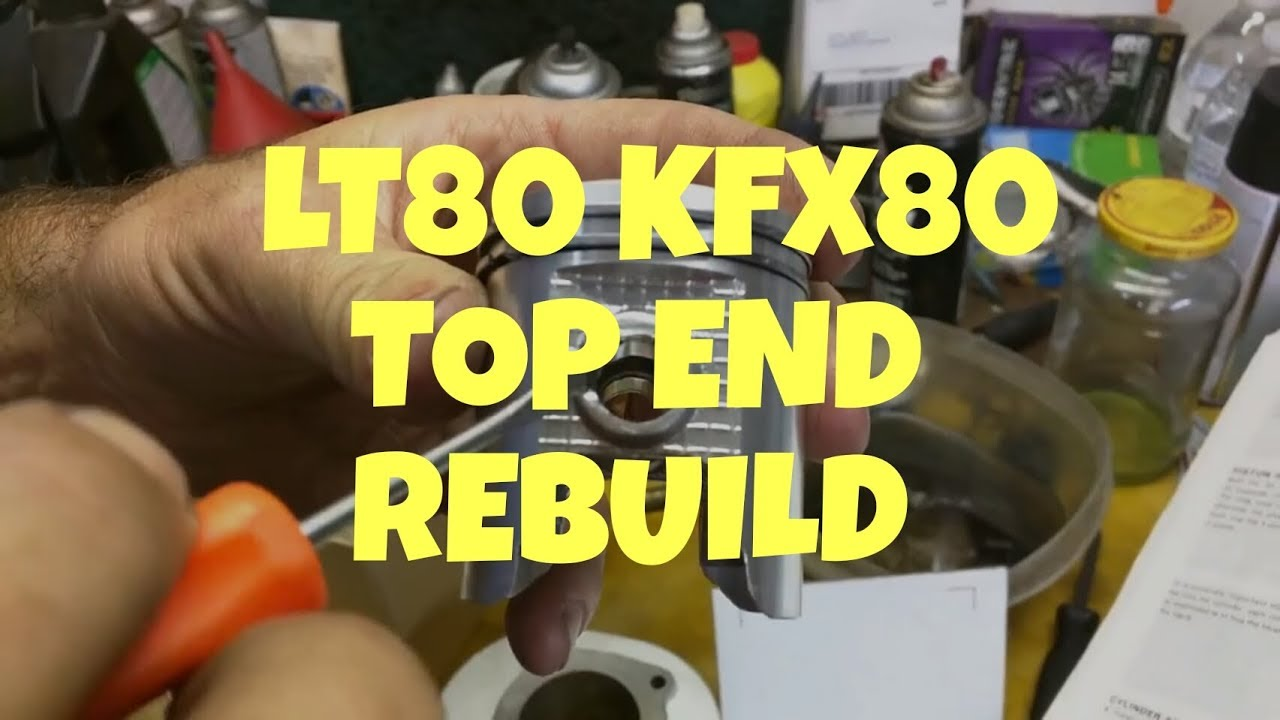 Suzuki LT80 top end rebuild Kawasaki KFX80 - YouTube