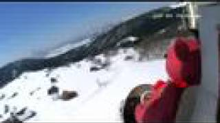 Go Teddy! by R/C airplane in snow HDV video