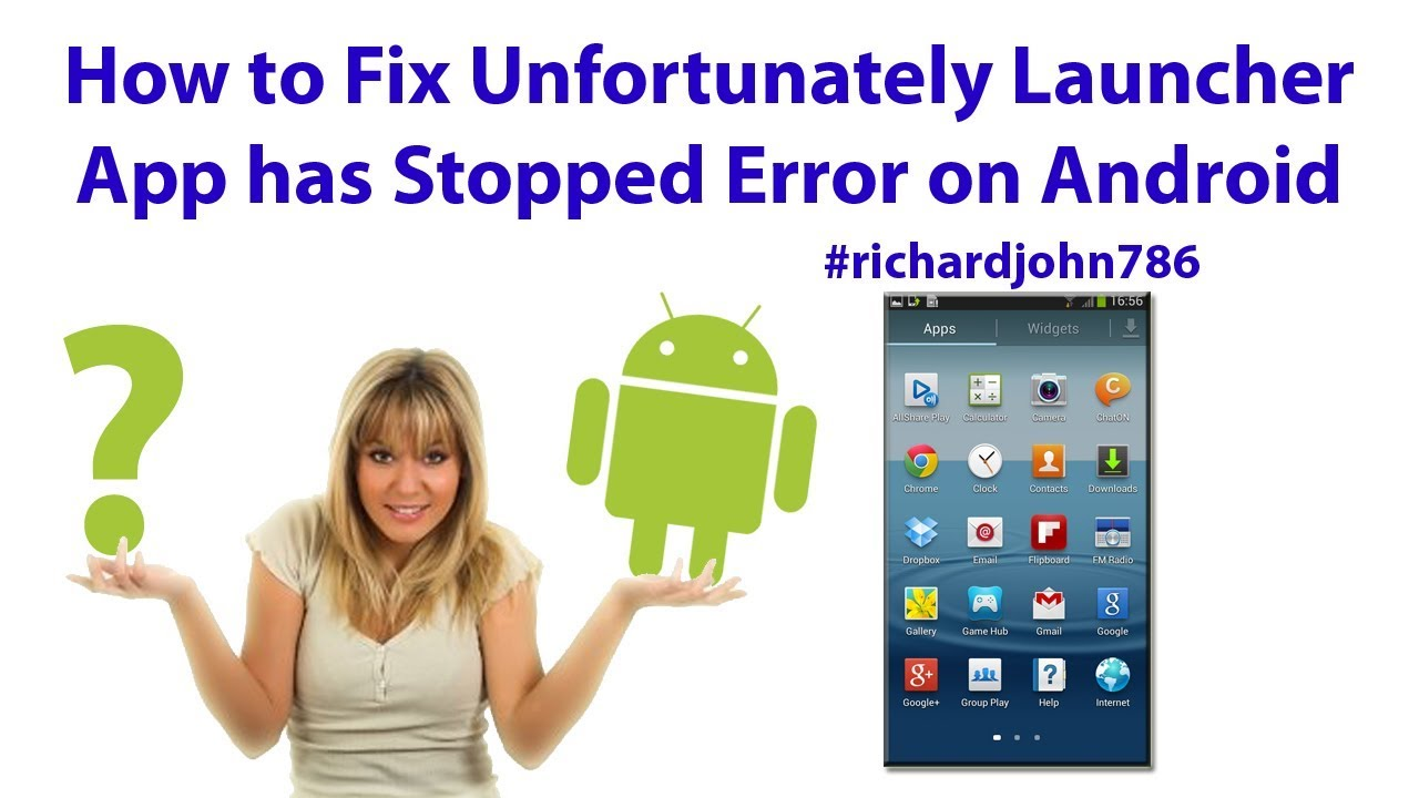 How to Fix Unfortunately Launcher App has Stopped Error on Android