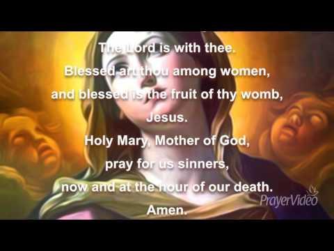 The Hail Mary Prayer - Catholic Prayers