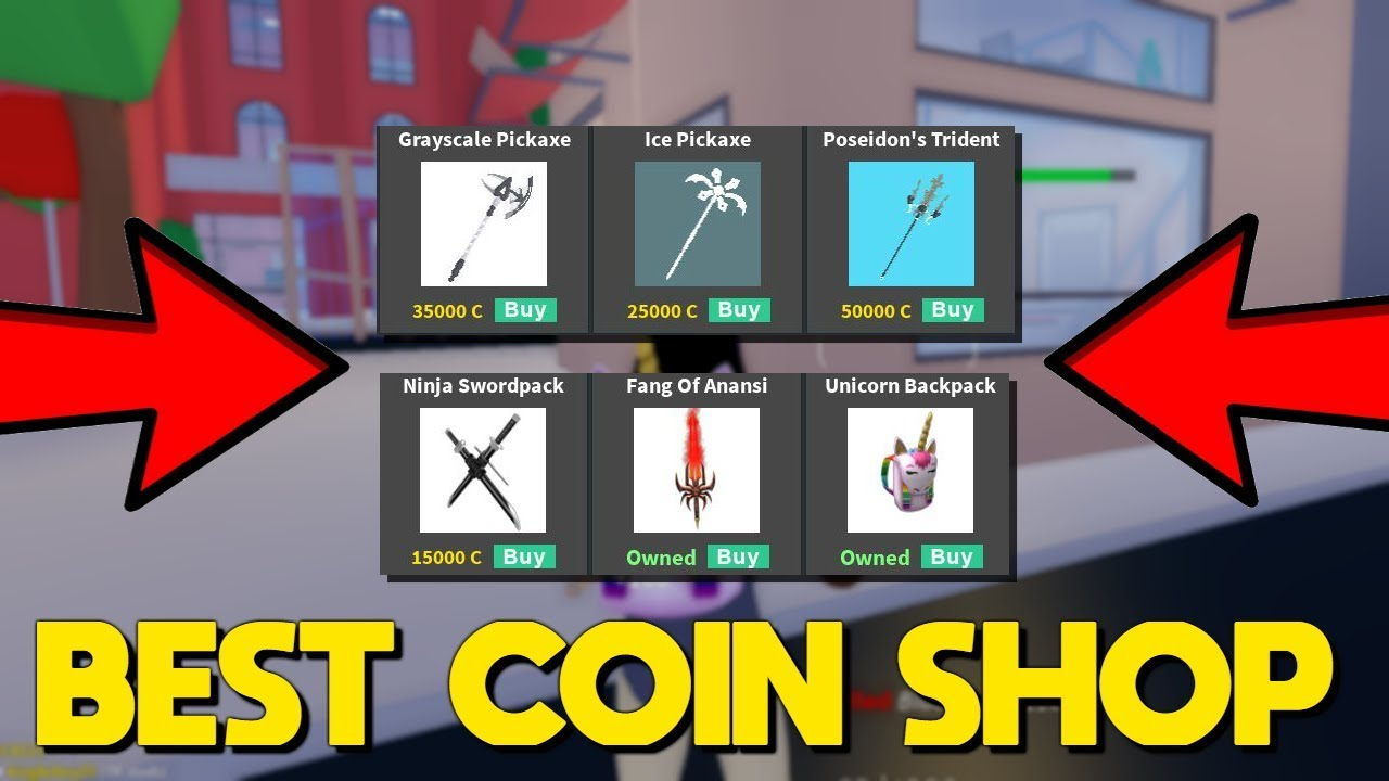 COIN SHOP *UPDATE* In Strucid... (INSANE PICKAXES) - YouTube