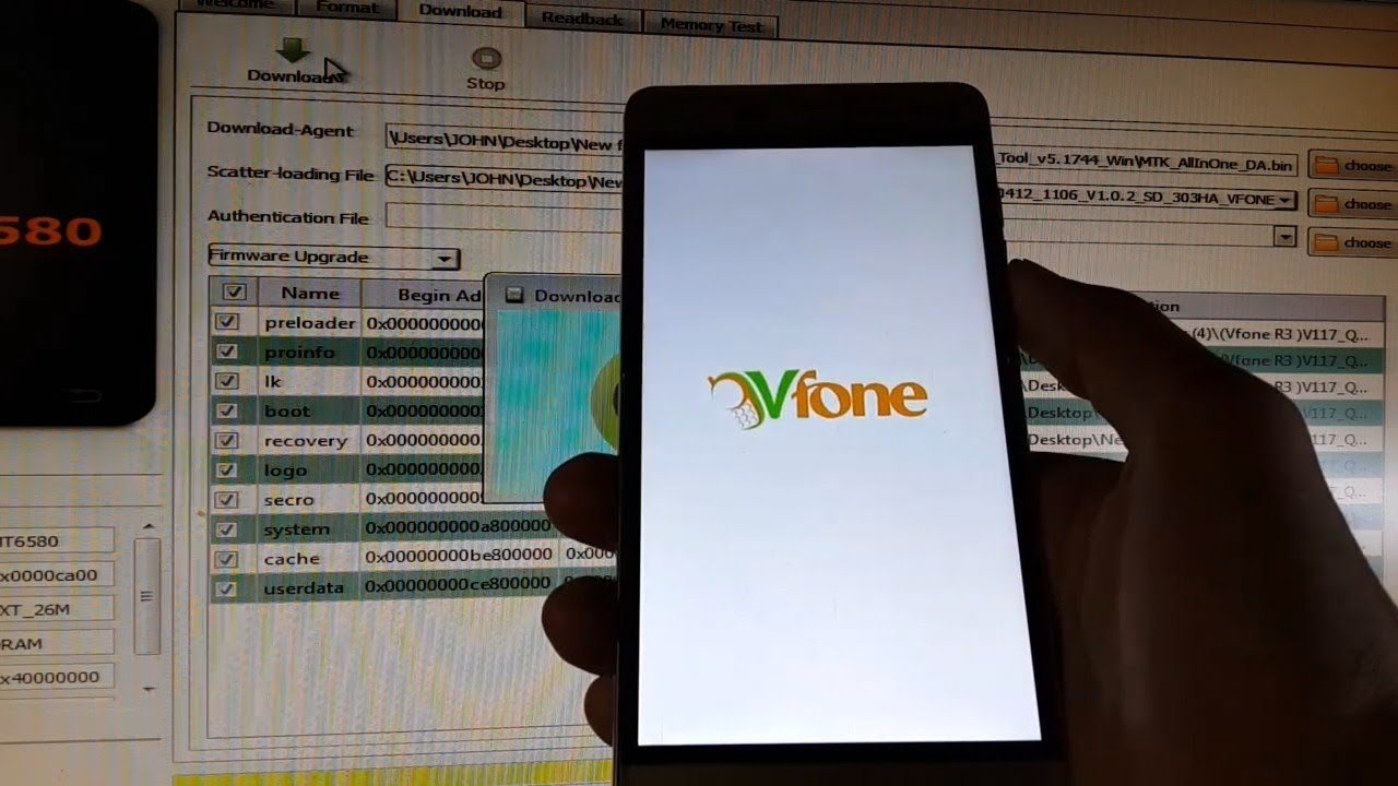 Vfone R3 Flash Firmware With SP Flash Tool