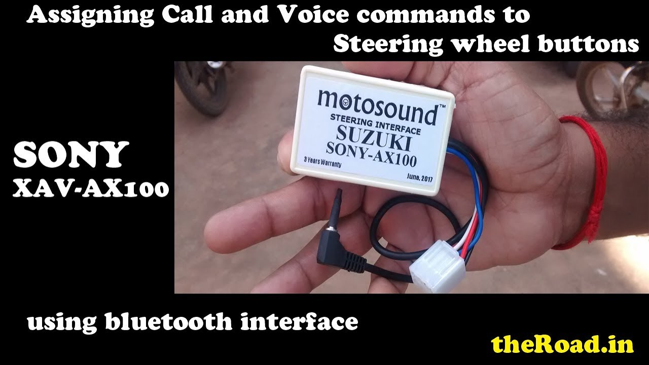 Sony Xav Ax100 Assigning Call And Voice Commands To Steering Wheel Suzuki Wiring Diagram Buttons