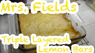 Mrs. Fields Triple Layered Lemon Bars (Vegetarian)