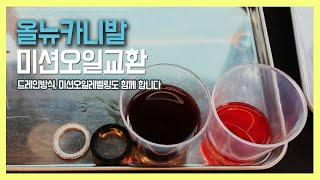 올뉴카니발 2.2 디젤 파워텍 6단 미션오일교환 - 드…