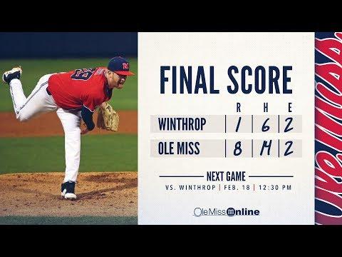 HIGHLIGHTS | Ole Miss defeats Winthrop 8 - 1 (02/17/18) #WAOM #FinsUpRebels