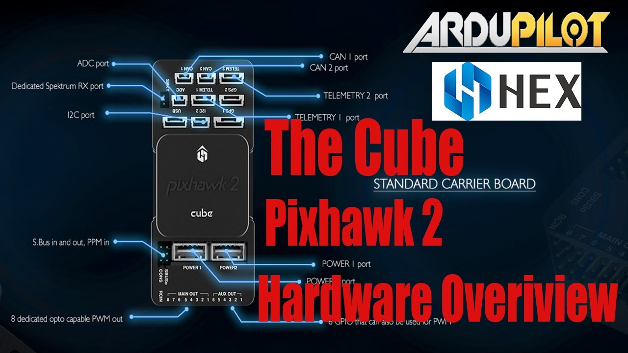 The Cube Pixhawk 2 Autopilot/ Flight Controller & Here GPS Closer Look At  The Hardware