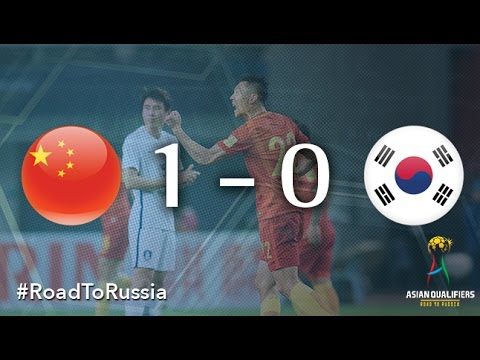 China vs Korea Republic (Asian Qualifiers - Road To Russia)