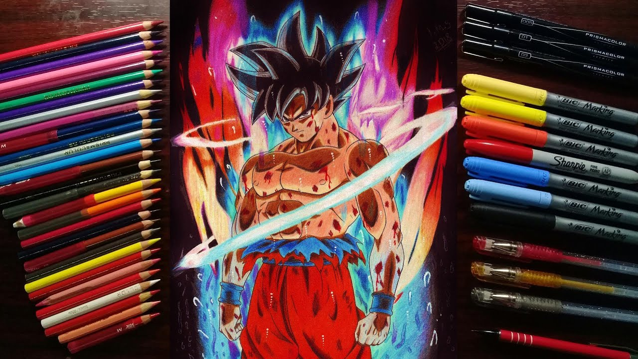 TUTORIAL: Cómo dibujar a Goku Ultra Instinto!//How To draw