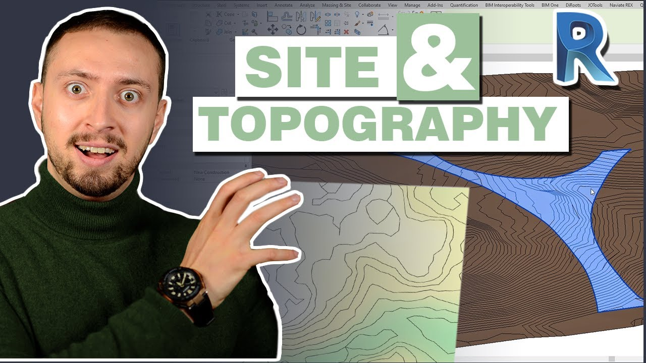 FREE Revit Topography | Site Plan in Revit | Roads and Curbs