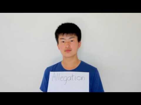Header of allegation