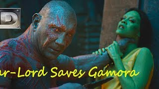Star-Lord Saves Gamora. Guardians of the Galaxy