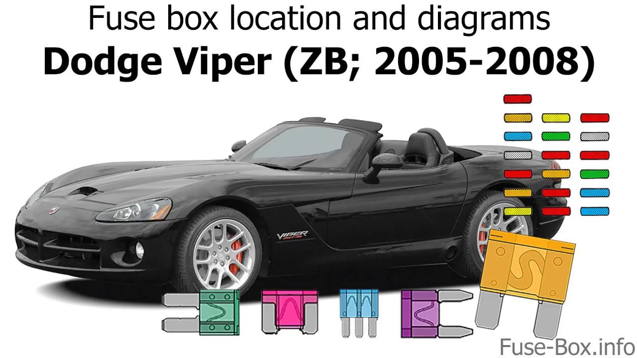 medium resolution of fuse box location and diagrams dodge viper zb 2005 2008 youtube 2004 dodge viper fuse box location 2004 dodge viper fuse box
