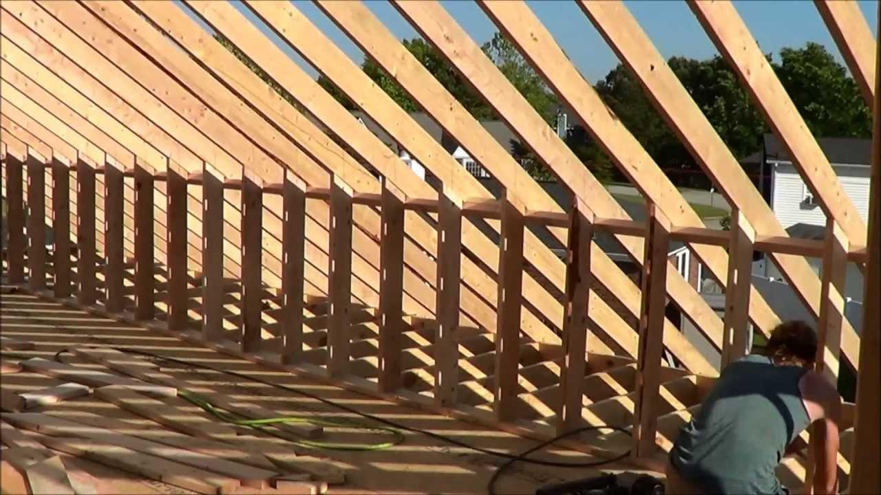 Building Attic Knee Walls - 2x6 - Fire Rebuild - YouTube