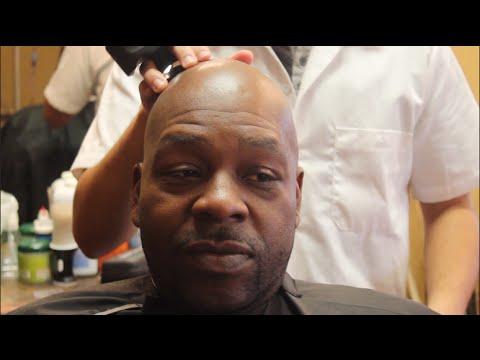Bald eagle shaved