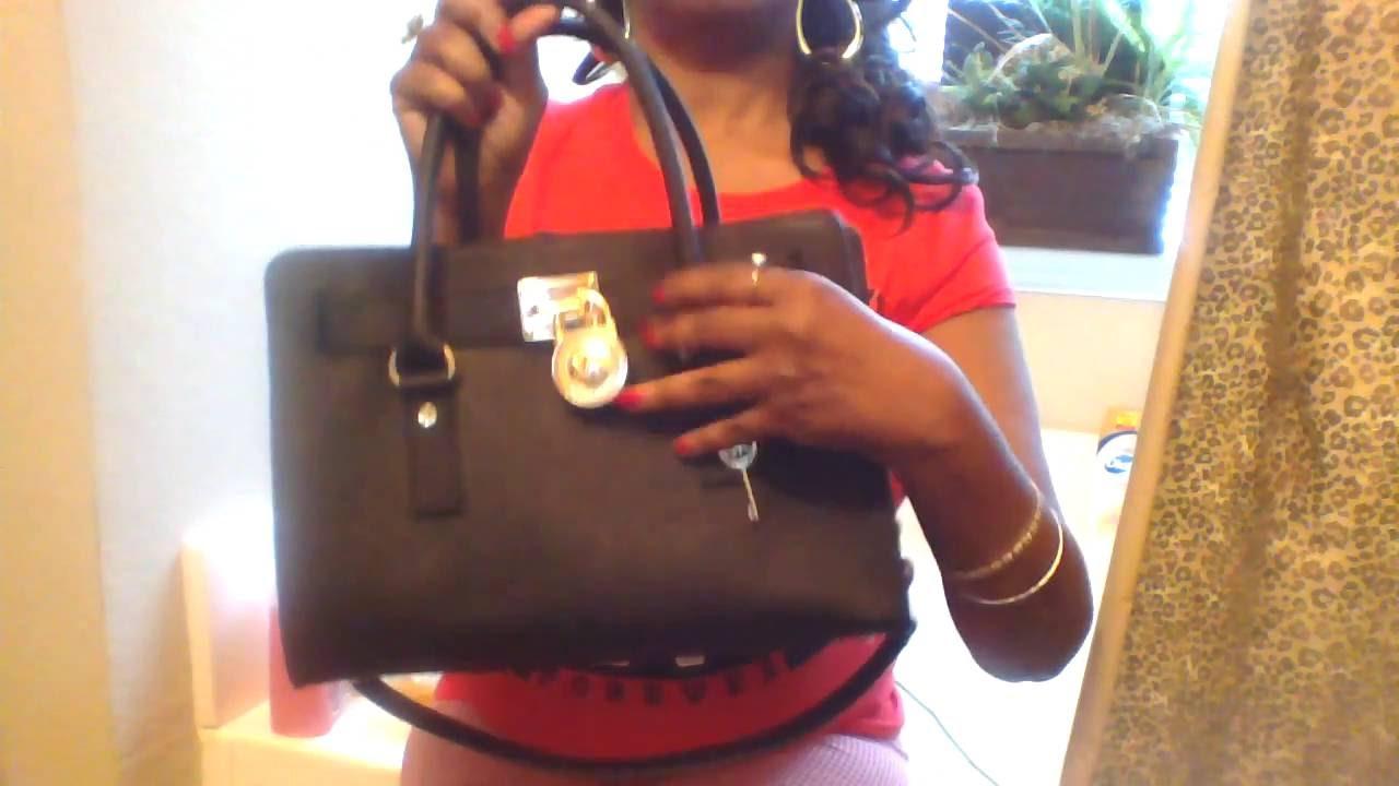 67baf8e60f2e17 Michael Kors Black Saffiano leather east west Satchel - YouTube