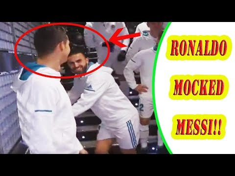 REAL MADRID STAR CRISTIANO RONALDO GETS CAUGHT MOCKING RIVAL LIONEL MESSI!! thumbnail
