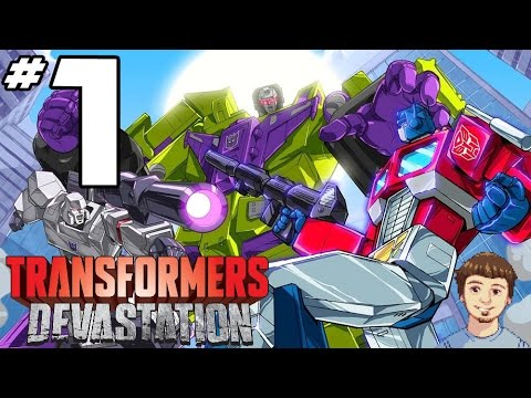 Transformers Devastation Walkthrough - PART 1 - Optimus Prime Gameplay & Grimlock Dance!