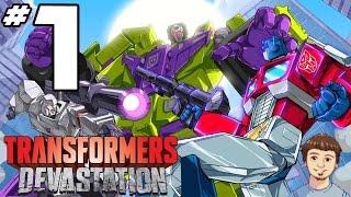 Transformers Devastation Walkthrough - PART 1 - Optimus Prime Gameplay & Grimlock Dance!