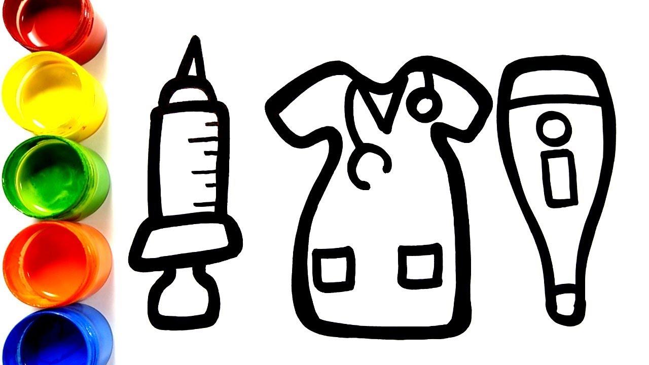 Baju Dokter Belajar Menggambar Untuk Anak Anak Menggambar