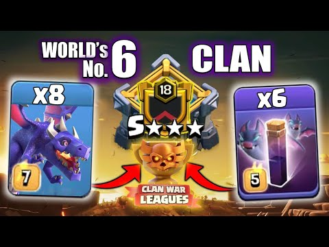 Top NO.6 Clan (November Season) Best CWL 3star War CLAN In The WORLD - Clash Of Clans - COC