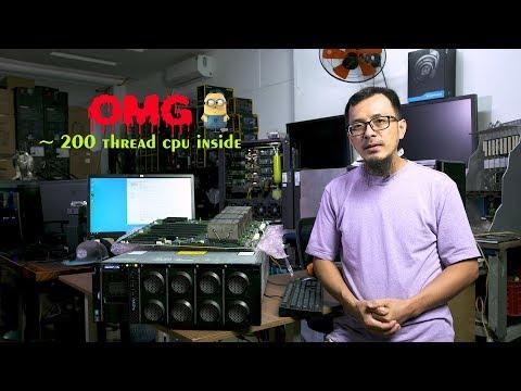 ~ 200 thread cpu inside this beast   Lenovo X3850 X6   4 x E7-8890 V4