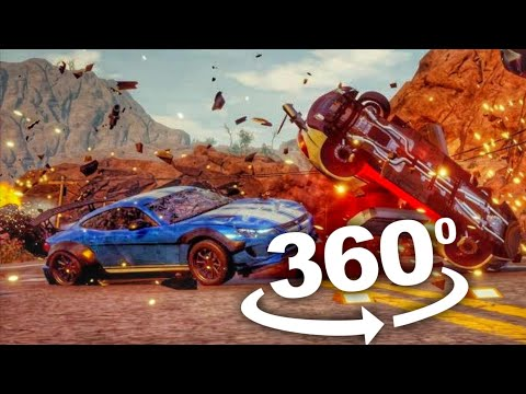 VR 360 Gameplay of Sports Car Crash Virtual Reality Experience