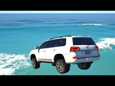 GTA 5 Cars Jumping Into Water  