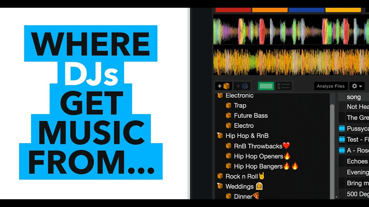 Where DJs get music! How to build your music library!