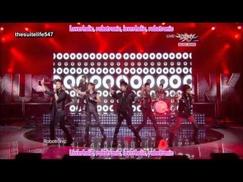SHINee feat. TRAX - Lucifer (Rock Version) [Music Bank] (10.09.10) {Hangul, Romanization, Eng Sub}