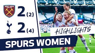 HIGHLIGHTS | WEST HAM 2-2 SPURS WOMEN (2-4 ON PENALTIES) | CONTI CUP