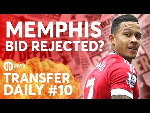 Memphis Bid Rejected? Lingard, Evra to Palace?  | Manchester United Transfer News | TD #10