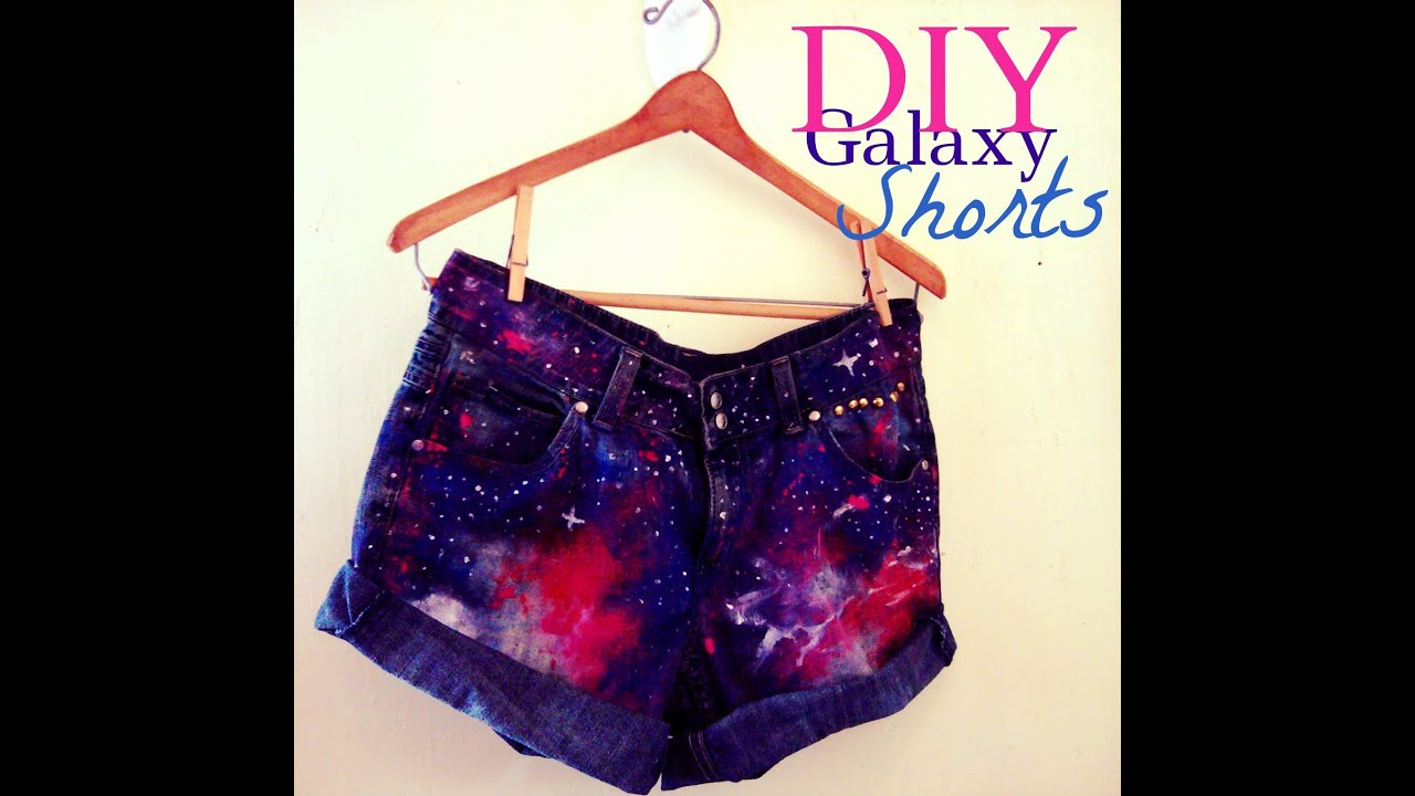 diy galaxy high waist denim shorts distressing amp studs