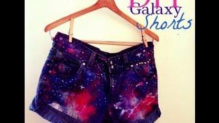 diy galaxy high waist denim shorts distressing studs