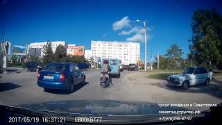 Часть урока вождения в Севастополе (кусочек экзаменационного маршрута №2 ГИБДД)
