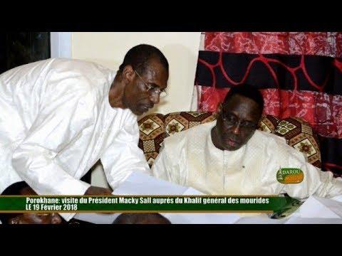 Porokhane: visite du Président Macky Sall auprés du Khalif général des mourides le 19 02 2018 P02