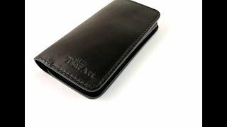 Обзор. Кожаный чехол для телефона - портмоне. Ручная работа от TsarArt