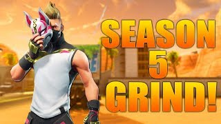 FORTNITE SEASON 5 GRIND! DRIFT UPGRADING & NEW SKINS!! Fortnite Battle Royale Gameplay!!!