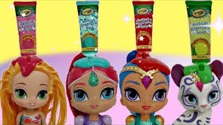 COLOR CHANGING D.I.Y. with Leah from Shimmer & Shine / CRAYOLA Fingerpaint Bath, Learn Colors / TUYC