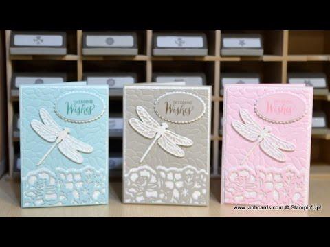 No.275 - Dragonfly Wedding Card - JanB UK Stampin' Up! Demonstrator Independent