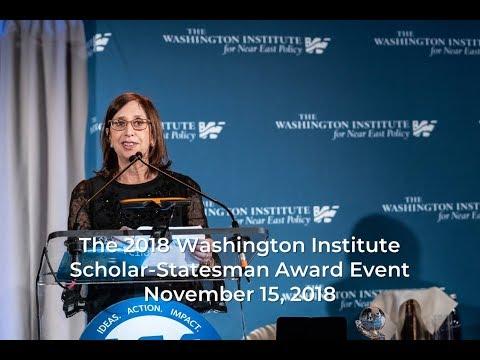 Washington Institute 2018 Scholar-Statesman Award Event Introduction